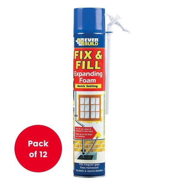 Everbuild Fix & Fill Expanding Foam 750ml - Next Day Express Delivery