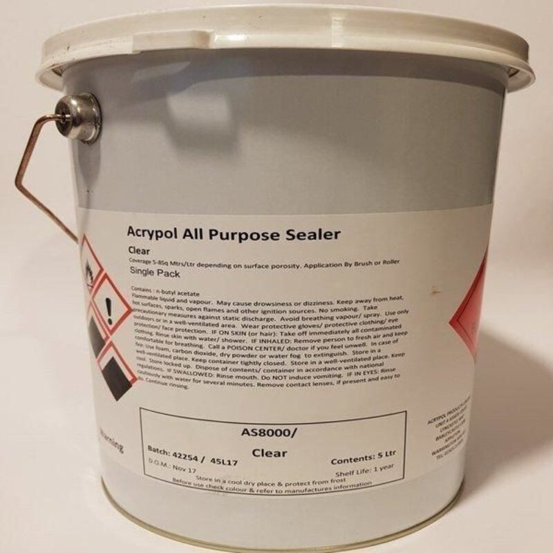 Acrypol Sealer Clear 5ltr – ALL SURFACES EXCLUDING METAL